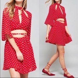 Pants - Red & White Polka Dot Romper NWT